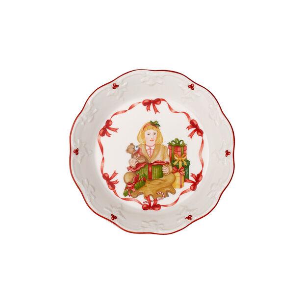 Toy's Fantasy fuente pequeña con motivo de niña abriendo regalos, rojo/varios colores, 16,5 x 16,5 x 3cm, , large