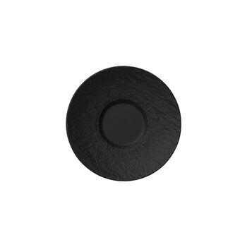 Manufacture Rock piattino per tazzina da espresso, nero/grigio, 12 x 12 x 2 cm