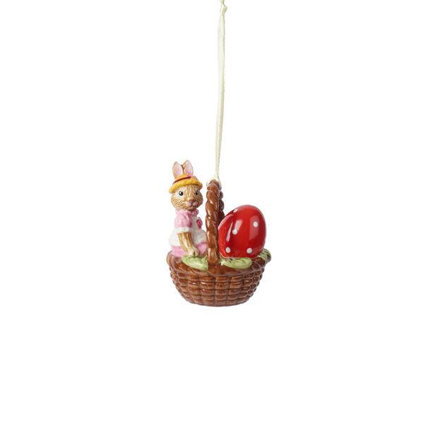 Bunny Tales ornamento con cestino Anna, , large