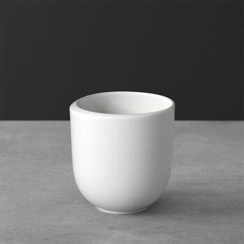 NewMoon taza grande de café, sin asa, 390 ml, blanco
