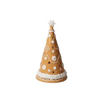 Winter Bakery Decoration albero di pan di zenzero grande, marrone/bianco, 11 x 11 x 21 cm
