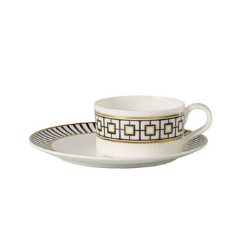 MetroChic Tazza tè con piattino 2pz. 18,5x18,5x5,5cm