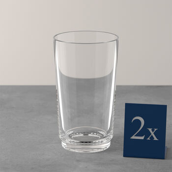 like by Villeroy & Boch it's my match set de vasos largos, transparente, 8 x 14 cm, 2 unidades