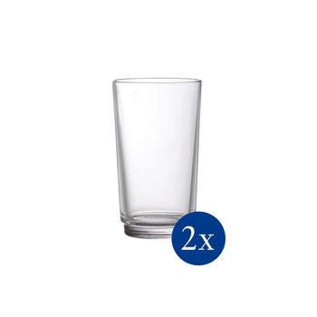 like.by Villeroy & Boch it's my match set di bicchieri da long drink, trasparente, 8 x 14 cm, 2 pezzi