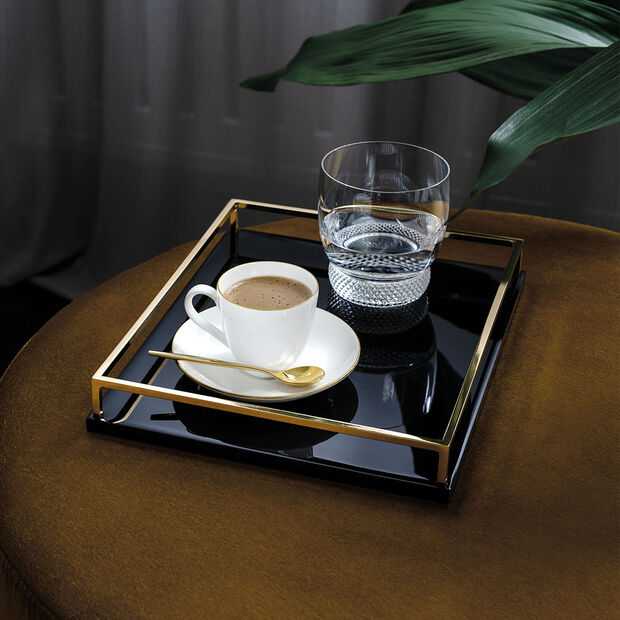 Anmut Gold piattino da moka/espresso, diametro 12 cm, bianco/oro, , large