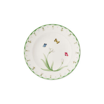 Colourful Spring plato para pan, blanco/verde