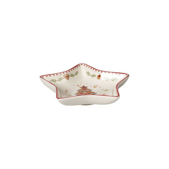 Winter Bakery Delight ciotola a stella piccola, motivo pan di zenzero, rosso/multicolore, 13 cm