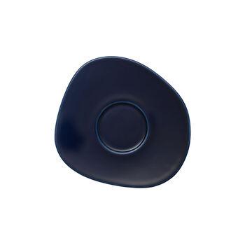 Organic Dark Blue piattino per tazza da caffè, blu scuro, 17,5 cm