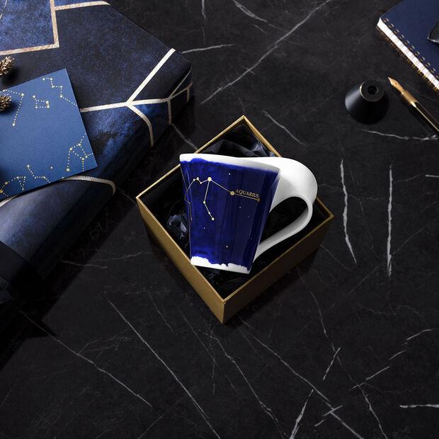 NewWave Stars taza con motivo de Acuario, 300 ml, azul/blanco, , large