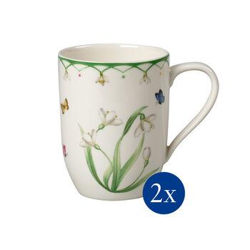 Colourful Spring taza grande de café, 340ml, 2unidades