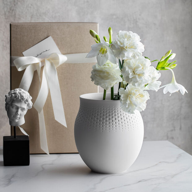 Manufacture Collier blanc Florero Perle grande 16,5x16,5x17,5cm, , large