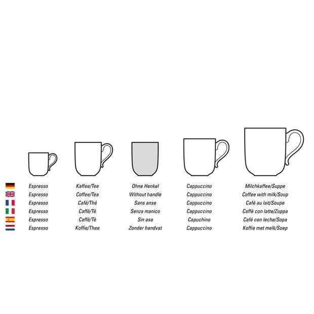 NewMoon tazza da caffè, senza manico, 280 ml, bianco, , large