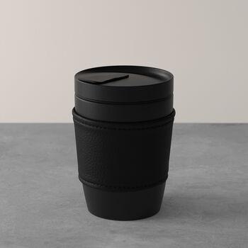 Manufacture Rock Coffee To Go tazza mug da viaggio, 290 ml, nero opaco