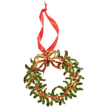 Winter Collage Accessoires pendente di metallo ghirlanda natalizia, multicolore, 12 cm