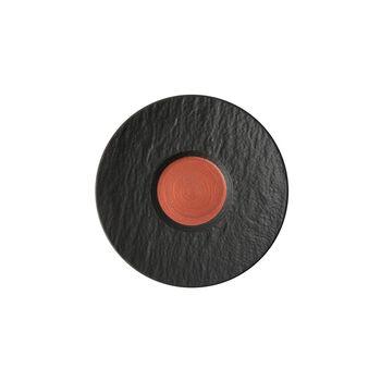 Manufacture Rock Glow piattino per tazza da caffè, rame/nero, 15,5 x 15,5 x 2 cm