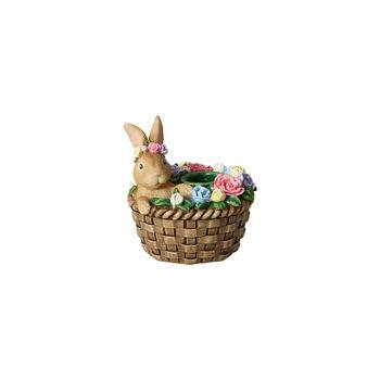 Bunny Tales portacandele, coniglio nel cestino