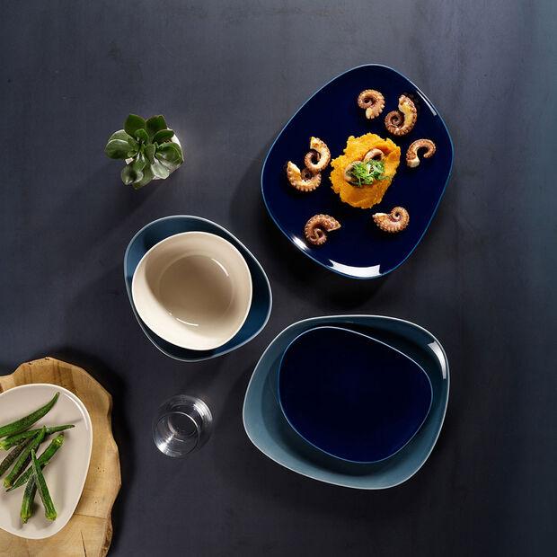 Organic Dark Blue plato llano de 28 x 24 x 3 cm, , large