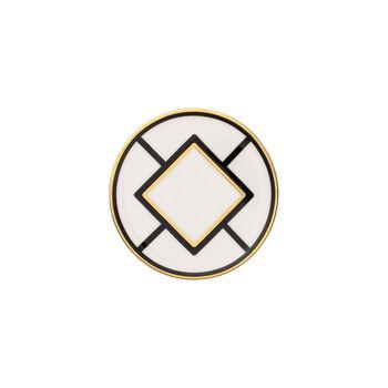 MetroChic sottobicchiere, diametro 11 cm, bianco-nero-oro