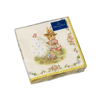 Tovaglioli Spring Fantasy, Anna e Paul, 25x25cm, 20 pezzi