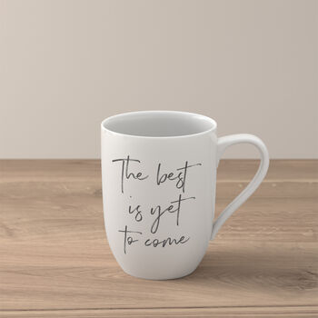 """Statement tazza """"The best is yet to come"""""""