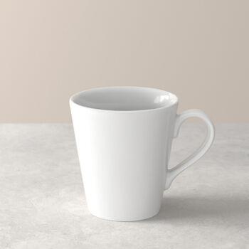 Organic White taza grande con asa, blanco, 350 ml