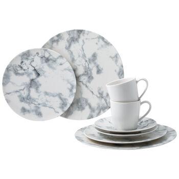 Marmory set combo White, bianco, 8 pezzi