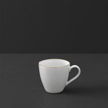 Anmut tazza da moka e da espresso, 100 ml, bianco/oro