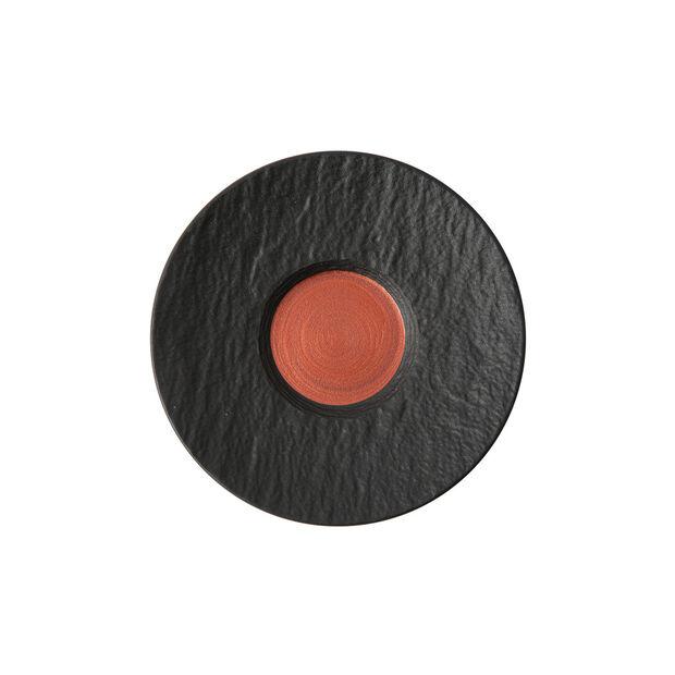 Manufacture Rock Glow piattino per tazza da caffellatte, rame/nero, 17 x 17 x 2 cm, , large