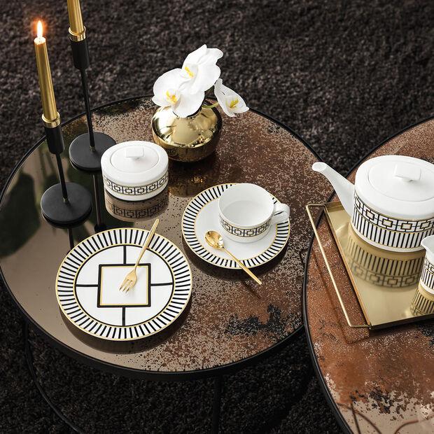 MetroChic tazza da tè, 230 ml, bianco-nero-oro, , large