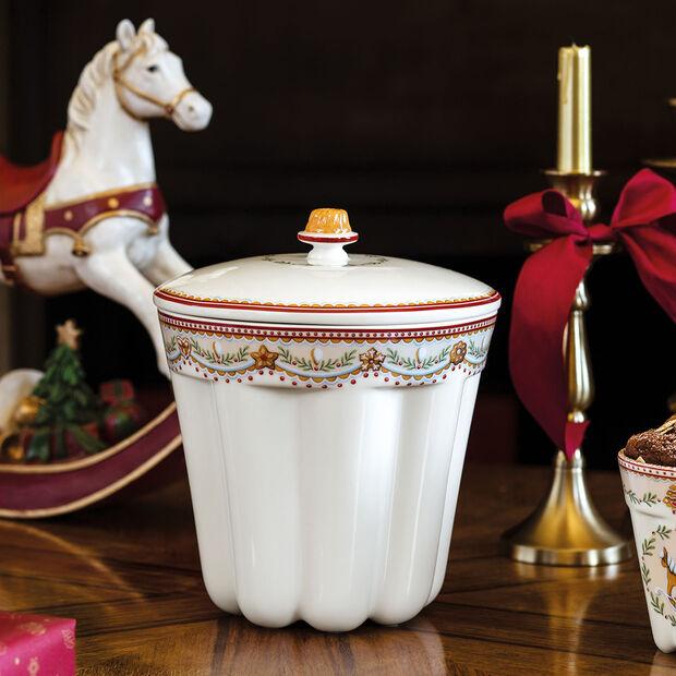 Winter Bakery Delight Caja de galletas Gugelhupf, pan de esp. 19x19x20,5cm, , large