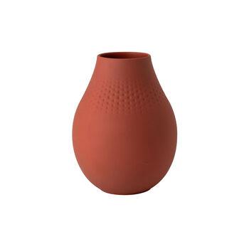 Manufacture Collier terre vaso alto, perla, 16x16x20cm