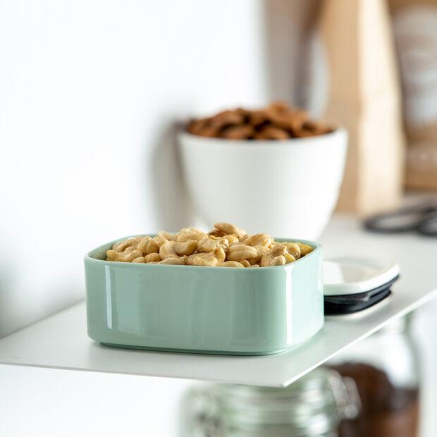 ToGo&ToStay porta pranzo, 13x10x6cm, quadrato, verde menta, , large