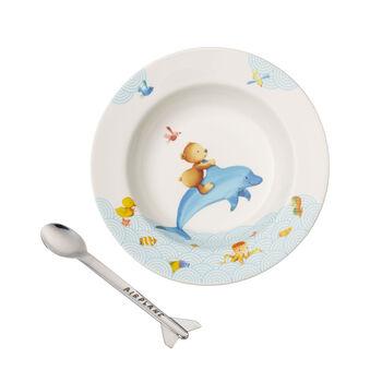 Happy as a Bear Set da pranzo per bambini, 2pz