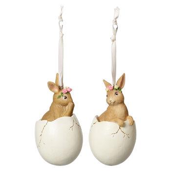 Spring Fantasy Accessories Coniglietti nell'uovo set da 2 5,9x5,9x10,8cm