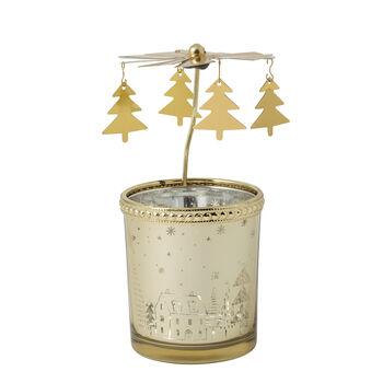 Winter Collage Accessoires Lanterna in vetro oro 13cm