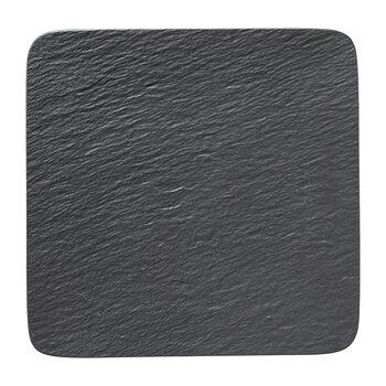 Manufacture Rock piatto da portata/piatto da gourmet quadrato, nero/grigio, 32,5 x 32,5 x 1,5 cm