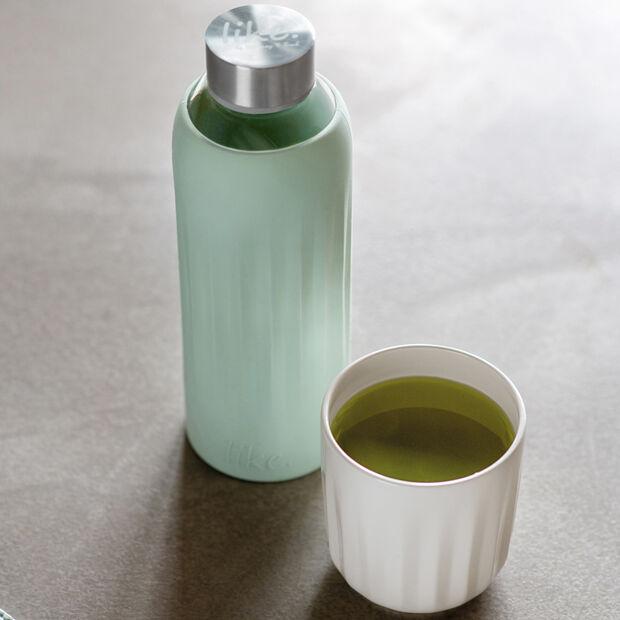 ToGo&ToStay borraccia in vetro, 0,5l, con rivestimento in silicone, verde menta, , large