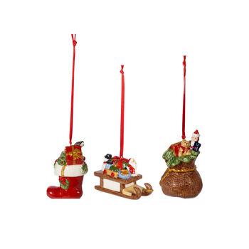 Nostalgic Ornaments set de ornamentos con motivo de regalos, varios colores, 3 piezas, 6,3cm