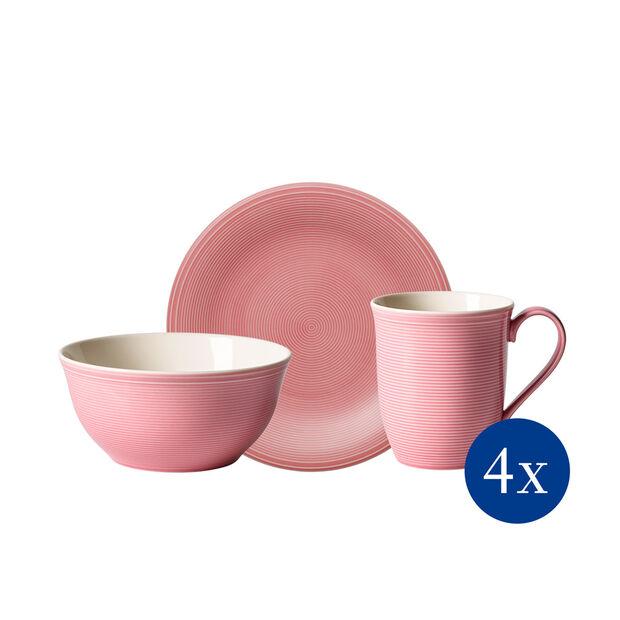 Color Loop Rose set de desayuno, rosa, 12 piezas, , large