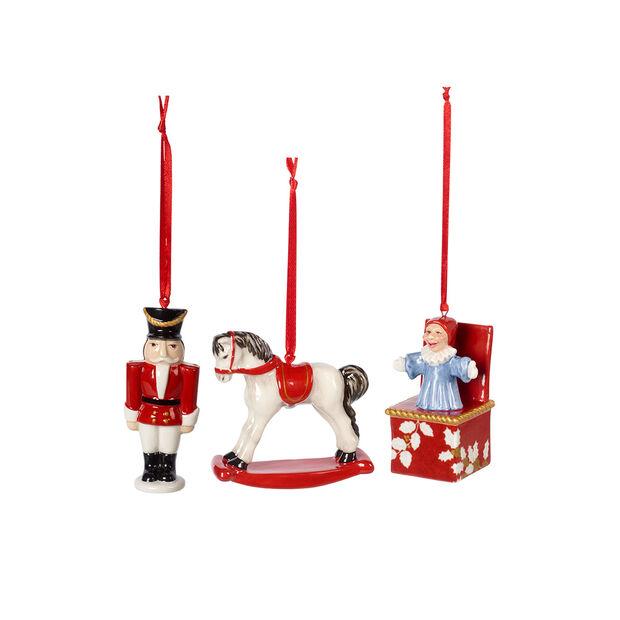 Nostalgic Ornaments set de ornamentos con motivos de juguetes, varios colores, 3 piezas, 9,5cm, , large
