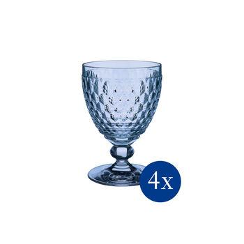 Boston coloured Copa vino tinto blue Set 4pzs