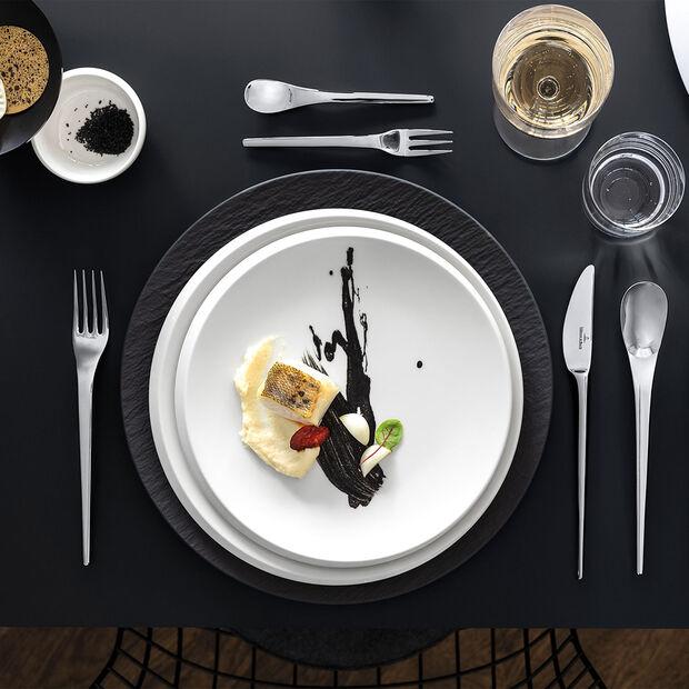 NewMoon piatto piano, 27 cm, bianco, , large