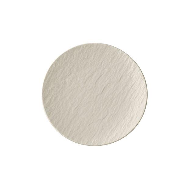 Manufacture Rock blanc Piatto pane 15,5x15,5x2cm, , large
