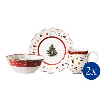 Toy's Delight Colazione per 2, bianco, set 6 pz. 36x25x14cm
