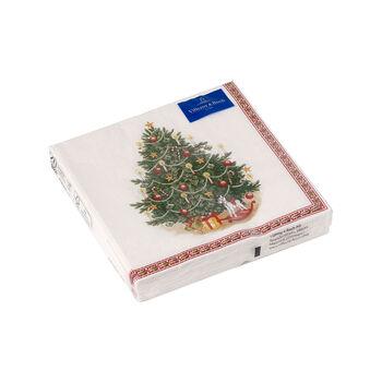 Winter Specials tovagliolo da cocktail, motivo albero di Natale, verde/multicolore, 20 pezzi, 25 x 25 cm