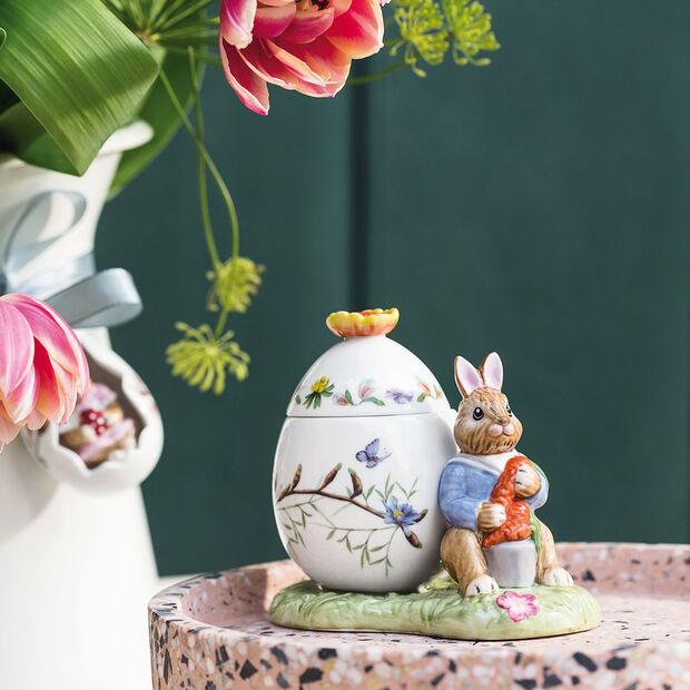 Bunny Tales Barattolo uovo di Pasqua Max con carota 11x6,5x9,5cm, , large