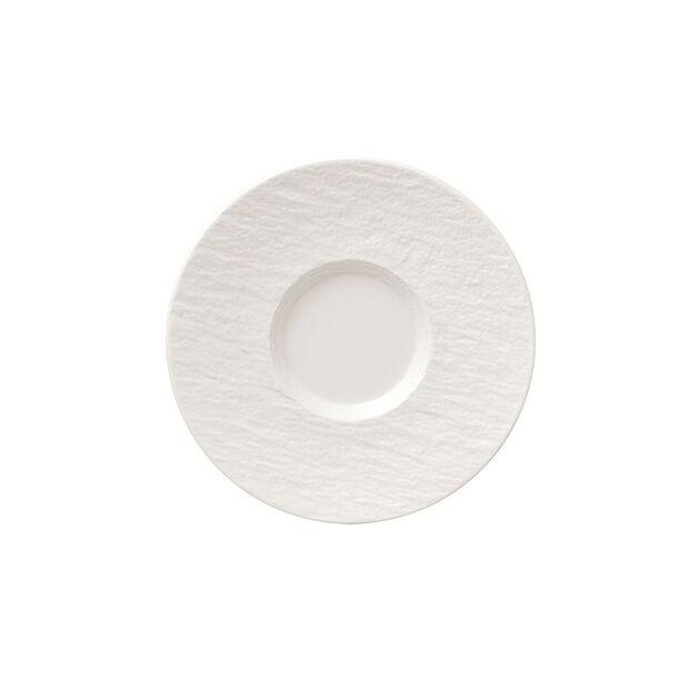 Manufacture Rock Blanc piattino per tazza da caffè, bianco, 15,5 x 15,5 x 2 cm, , large