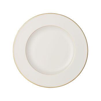 Anmut Gold piatto piano, diametro 27 cm, bianco/oro