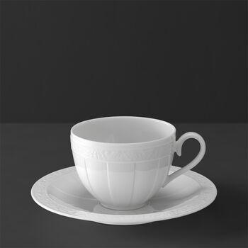 White Pearl Tazza caffè/tè con piattino 2pz.