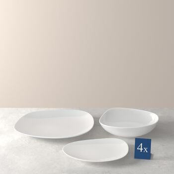 Organic White set básico de platos, blanco, 12 piezas